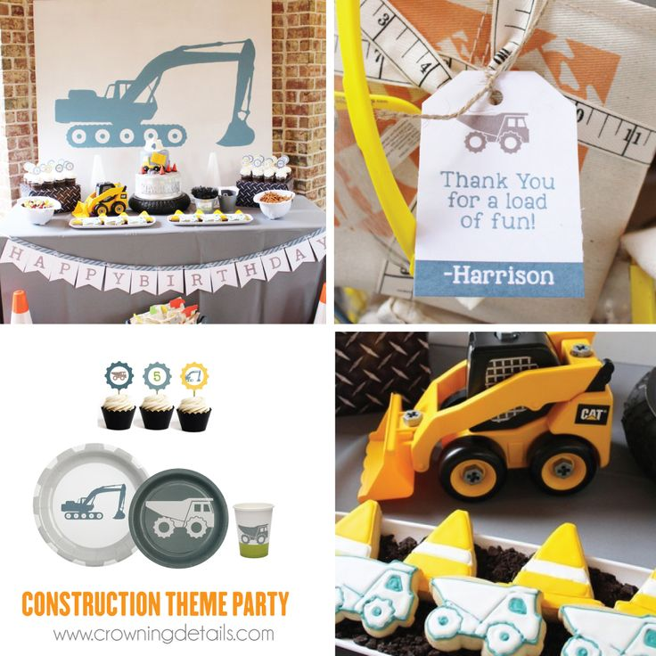 Construction party supplies. Shop this collection of exclusive construction party supplies in our online store!  #constructionpartysupplies #constructioninvitation #constructionpartyideas #constructionpaperplates #constructionpapercups