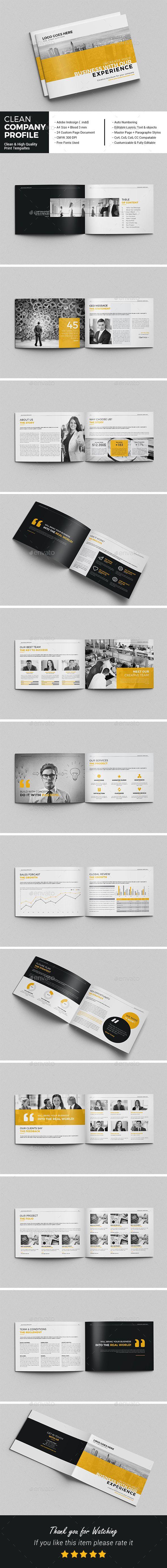 Clean Company Profile - Corporate Brochures Download here : https://graphicriver.net/item/clean-company-profile/19435870?s_rank=128&ref=Al-fatih