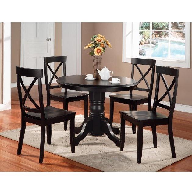 Home Styles Round Pedestal 5 Piece Dining Set