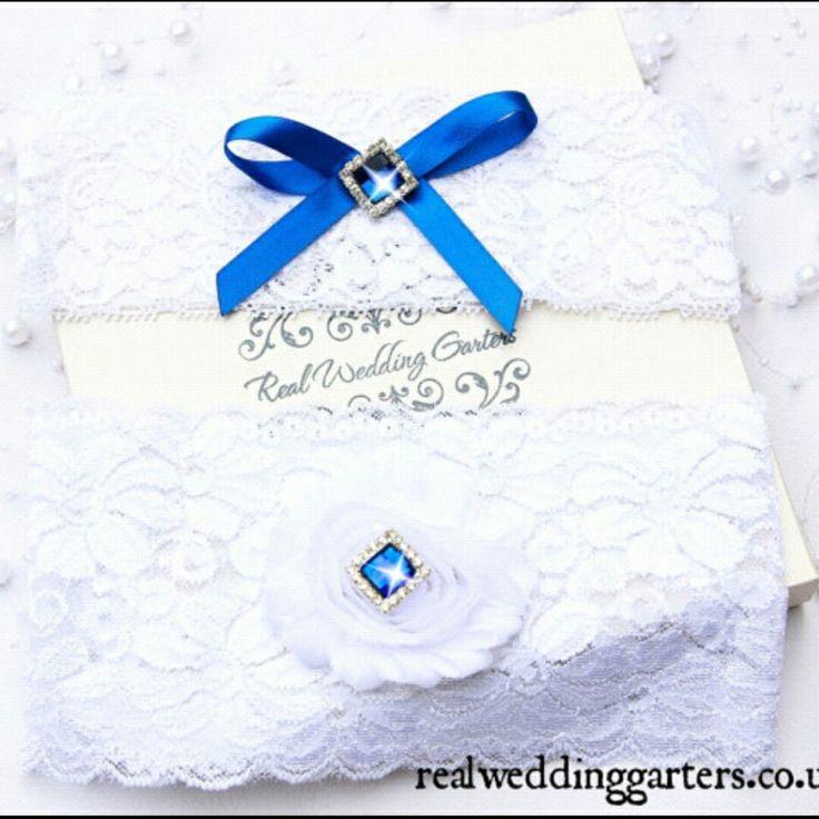 Something Blue Wedding Garter, Blue and Ivory Wedding Garter, Lace Wedding Garter,