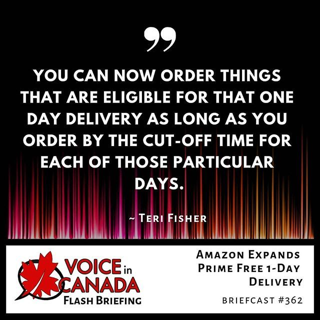 You Can Now Get Amazon Prime Free One Day Delivery In 13 More New Cities And Towns Across Canada Awesome Right Get All The Details In The New City Canada Day