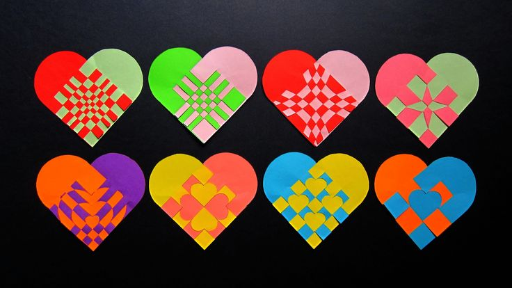 Paper heart tutorial - make woven hearts for gifts, bookmarks and decor ...