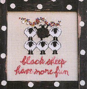 Black Sheep Again! - Cross Stitch Pattern