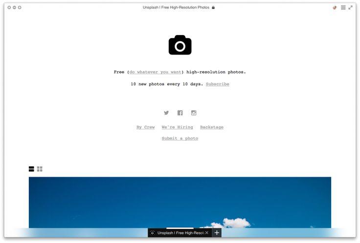 Качественные изображения для веб-сайтов —уже давно укоренившаяся традиция в современном сайтостроении. Крупные проекты могут позволить себе провести фотосессию для получения уникальных фотографий, но что делать небольшим проектам или стартапам? Специально для вас мы собрали 9 бесплатных фотостоков, на которых вы сможете найти фотографии высшего качества для ваших проектов.  Unsplash Первым проектом выступает Unsplash: минималистичный дизайн сайта и крутые фотографии. Что еще нужно для ...
