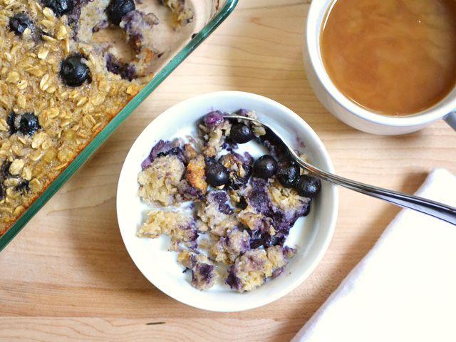Blueberry Banana Baked Oatmeal $4.18 recipe / $0.52 serving