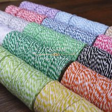 4ply (100 Mètres) 1 pcs/lot mince Boulangers ficelle couleur coton baker ficelle argent or rouge rose ficelle de coton couleur par livraison gratuite(China (Mainland))