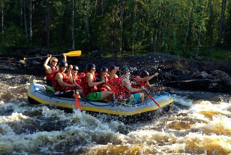 River rafting at Raudanjoki near Rovaniemi