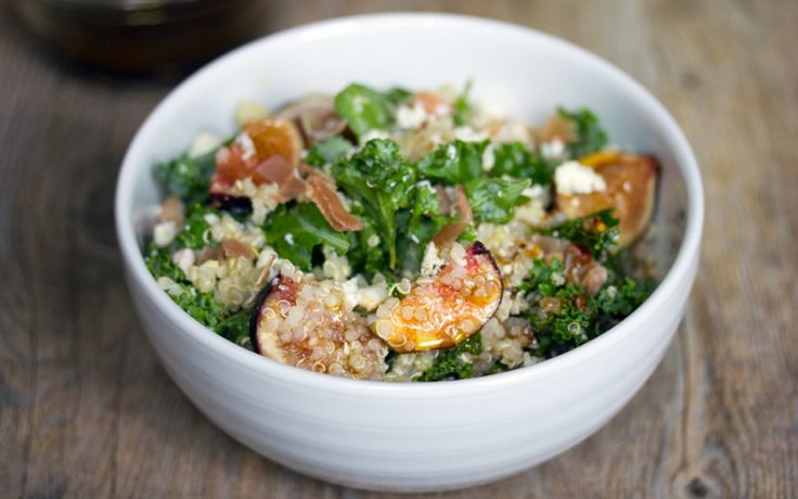This Salad Will Get Anyone to Eat and Enjoy Kale (Lemony Kale, Quinoa, and Fig Salad)