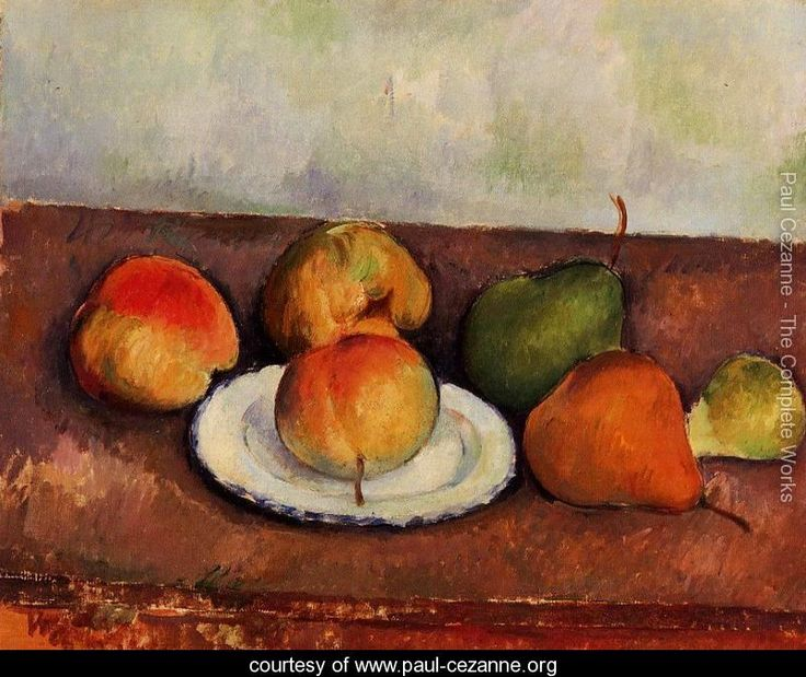 Still Life Plate And Fruit Paul Cezanne