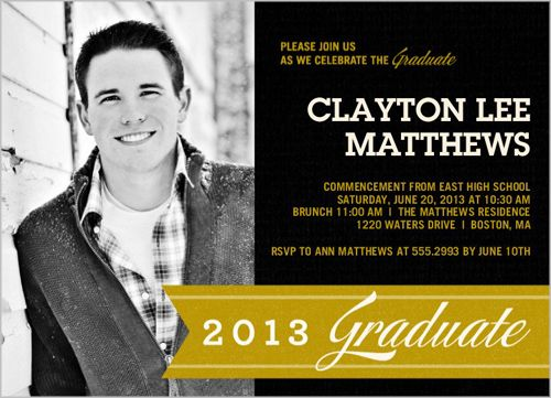 Senior Picture Ideas For Boys | New Graduation Announcements and Invitations | Picture More...like the simplicity of the announcement