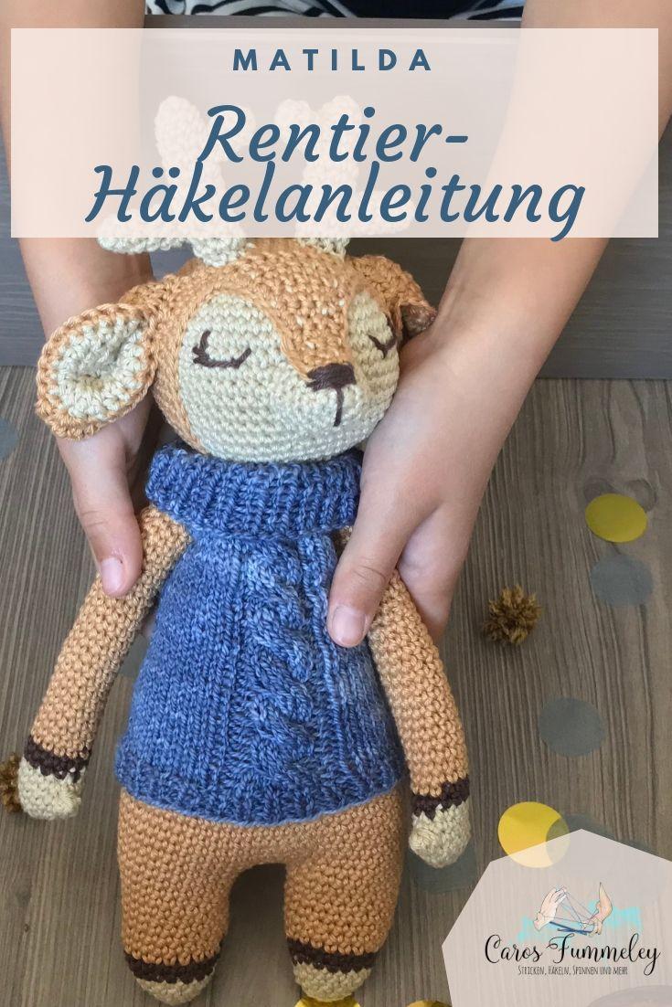 Rentier Häkeln Anleitung Von Wolltastisch Handmade Handarbeit