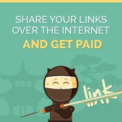 Share your links over the internet and get paid