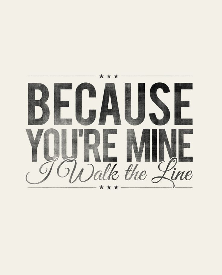 Because You're Mine, I Walk the Line- Johnny Cash - Rustic - Typographic Digital Print Download - PDF File - Country Song Lyrics. $7.00, via Etsy.