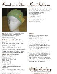 Fabric Chemo Cap Patterns   Patterns For Chemo Caps - Pattern Collections