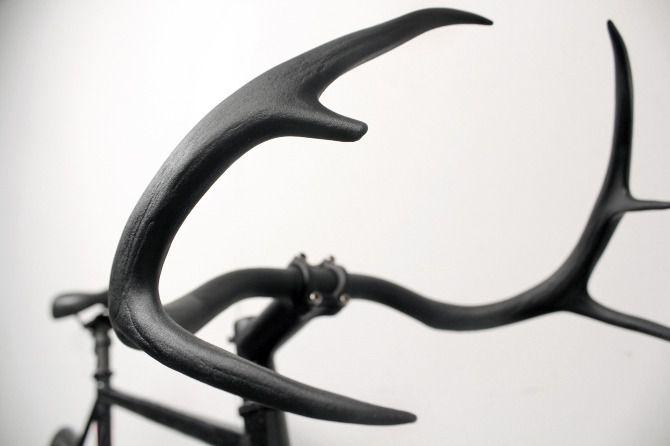 Deer antler handlebars . awsome