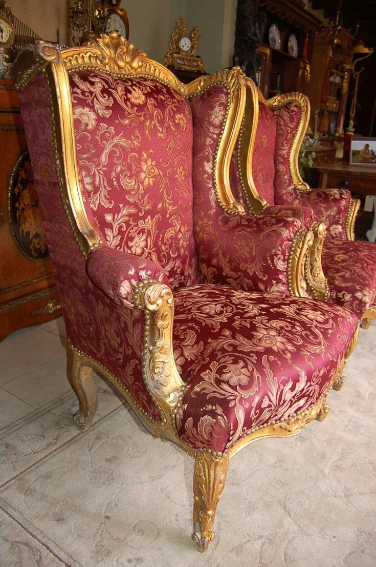 Antique wing back chairs - Antique French Gilt Wingback Chairs Jpg 1000 1504