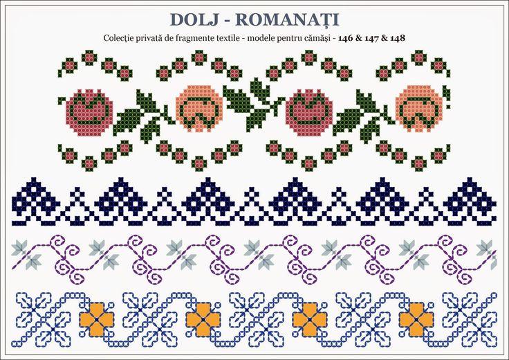 Semne Cusute: traditional Romanian motifs - OLTENIA: Dolj-Romanati