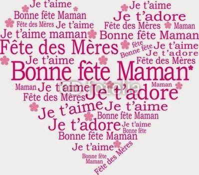 """Bettinael.Passion.Couture.Made in france: 5 - PLUSIEURS MODELES DE CARTES DE VOEUX """"BONNE FETE MAMAN"""""""