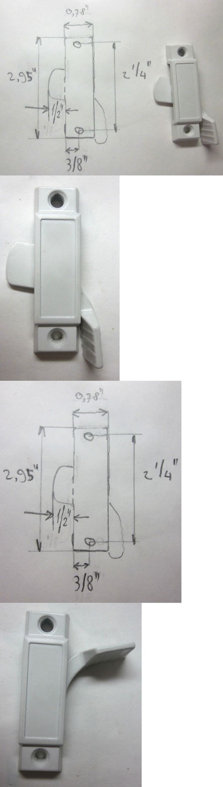 Small surface mounted replacement lock for antique furniture ebay - Window Hardware 45812 6 New White Sliding Window Sash Locks Sweep Latch Lip