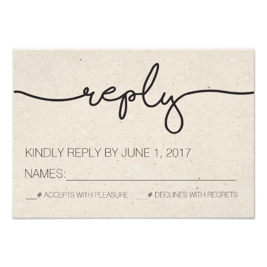 Simple, Rustic Wedding Reply Card. Click through to find matching games, favors, thank you cards, inserts, decor, and more.  Or shop our 1000+ designs for all of life's journeys. Weddings, birthdays, new babies, anniversaries, and more. Only at Aesthetic Journeys