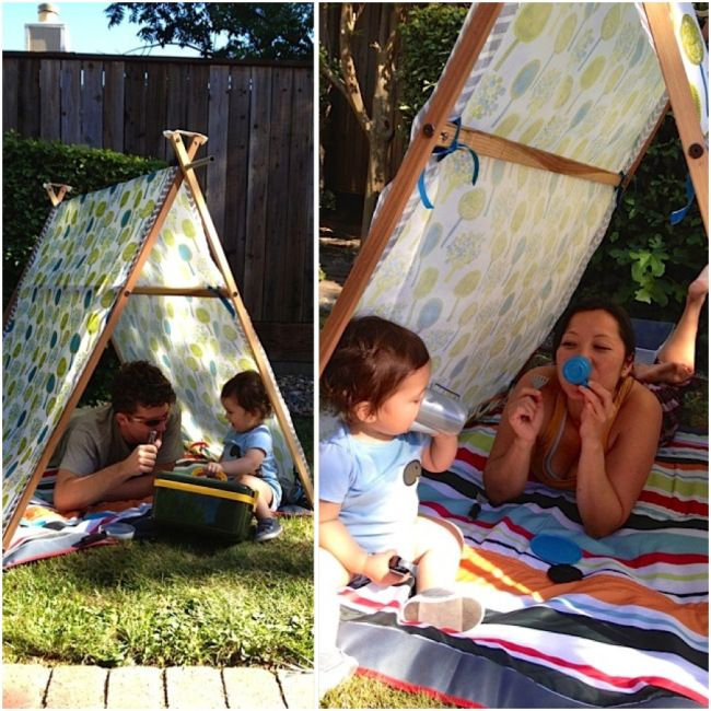 DIY Toddler Play Tent http://skiptothedetails.wordpress.com/2013/11/15/diy-toddler-play-tent/