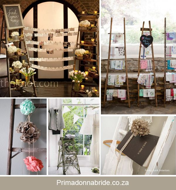 Various Ideas For Ladder As Decor