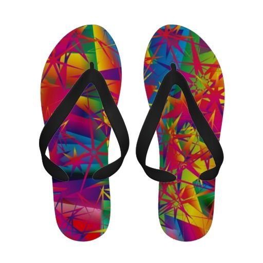 Multi-colored designer flip flip sandals by Serenity for The Liberty Dog Store online