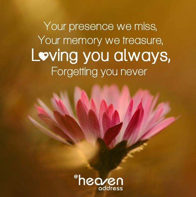 Your Presence We Miss Your Memory We Treasure Loving You Always Forgetting You Never Memories Forget You Love You