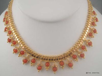 Simple Light Weight Coral Sets Latest Indian Jewellery