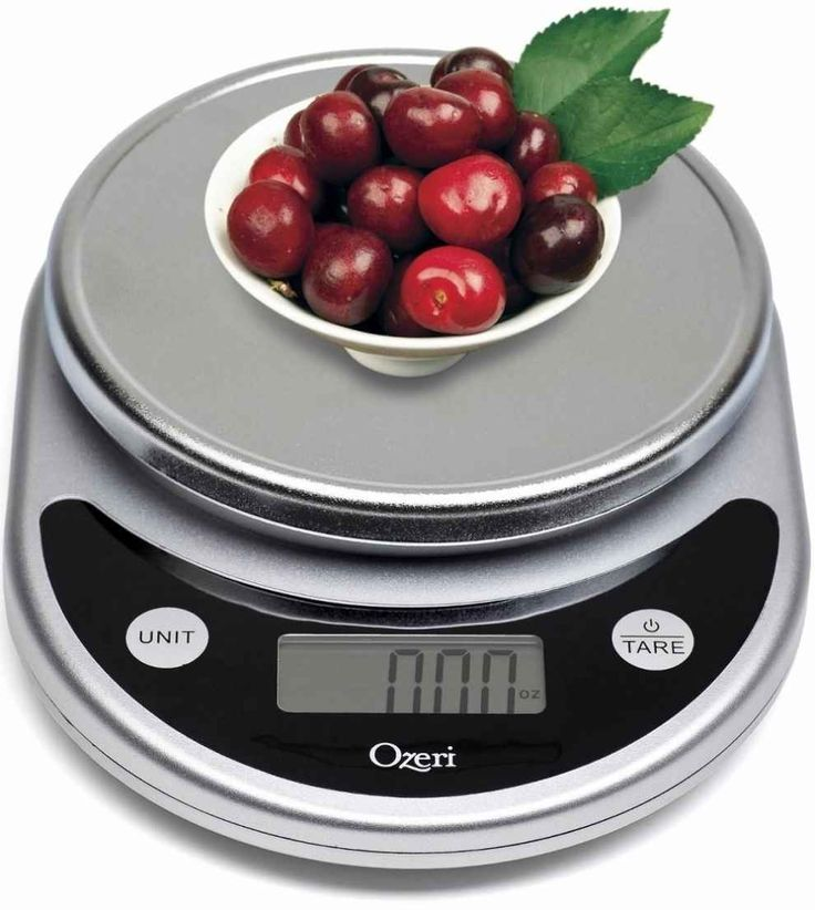 A digital scale allows for more precise measuring and easier clean-up than traditional measuring cups.
