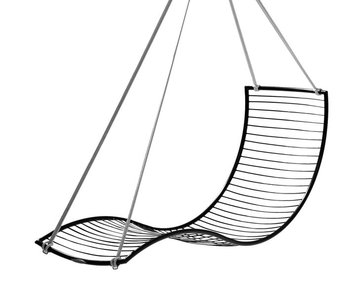 Buy Curve Hanging Swing Chair by Studio Stirling - Made-to-Order designer Furniture from Dering Hall's collection of Contemporary Transitional Organic Chaises.