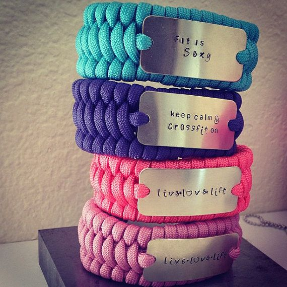 Crossfit inspired paracord bracelet by TuTuCuteStamped on Etsy, $20.00