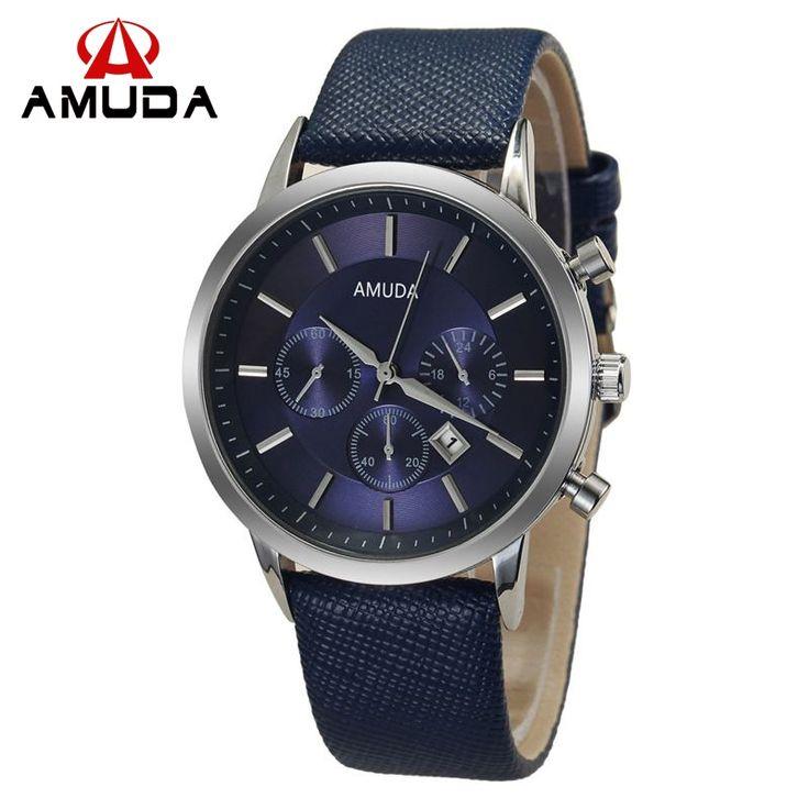 7.88$  Watch now - 2016 Mens Watches Amuda Brand Luxury Casual Military Quartz Sports Wristwatch Leather Strap Male Clock watch relogio masculino   #buyininternet