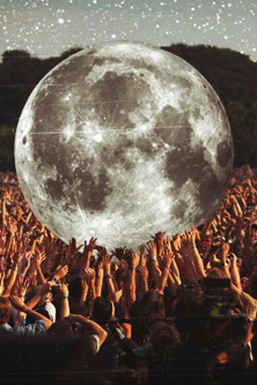 Lua cantora. Estrela da noite.