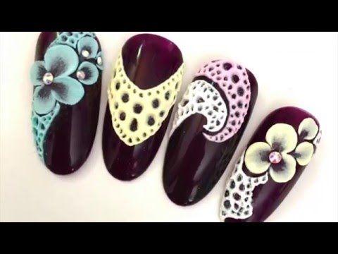 Creepy 3D ghost face nail art tutorial using gel polish - YouTube