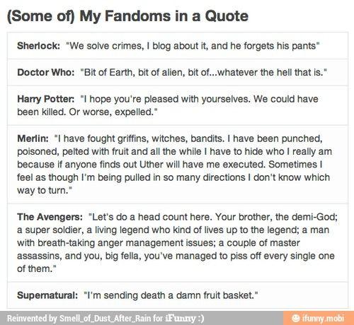 Sherlock doctor who Harry potter Merlin avengers supernatural superwholock bbc / iFunny :)
