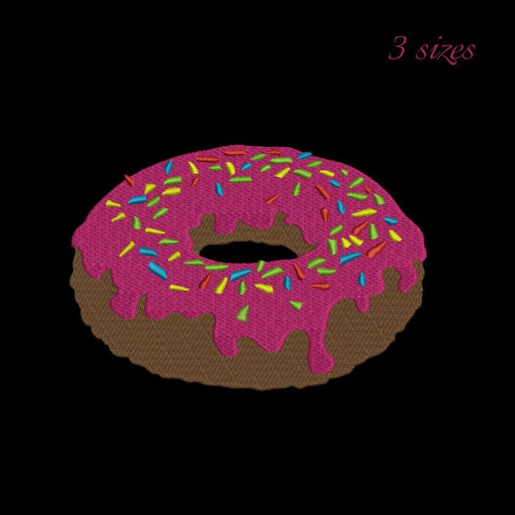 Doughnut embroidery design-INSTANT DOWNLOAD-Donut machine embroidery design by GretaembroideryShop on Etsy