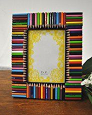 DIY Tutorial DIY Picture Frames / DIY Pencil Picture Frame - Bead&Cord