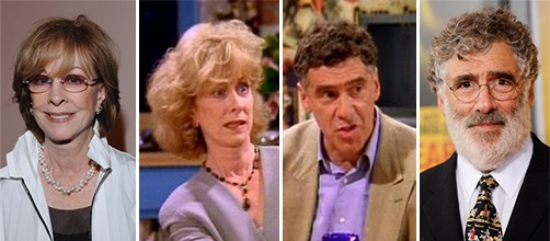 Ross & Monica's parents, Jack and Judy Geller (Elliott Gould and Christina Pickles)