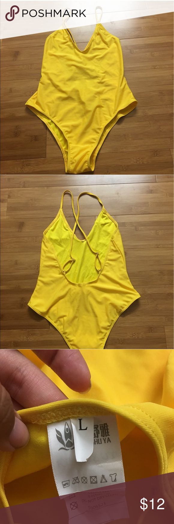 Large Yellow Bathing Suit never worn before, brand new Rosegal Swim One Pieces