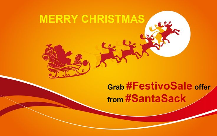 MERRY CHRISTMAS Grab #FestivoSale offer from #SantaSack @ http://goo.gl/RqZwgJ