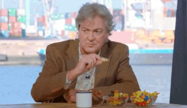 My Nerdy Obsession With Clarkson, Hammond, And May — James may have had the munchies while filming