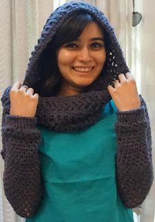 Sweet Nothings Crochet: CRISS-CROSS PATTERNED INFINITY COWL WITH SLEEVES