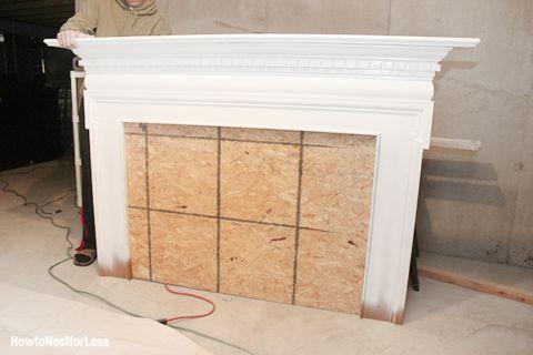 white fireplace mantel headboard                                                                                                                                                                                 More