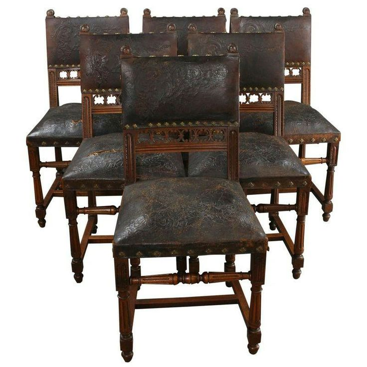 A Set Of 6 Antique French Renaissance Dining Chairs. Offering A Fine  Example Of The French Grandeur We Expect From Renaissance Style Furniture,  Thi.
