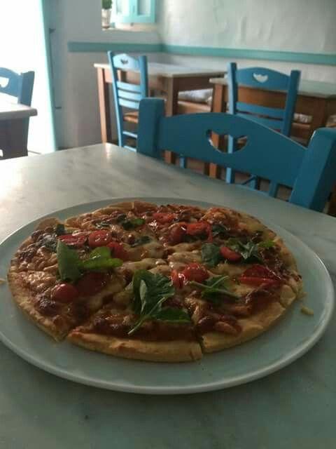 Homemade Greek Pizza -Alozi Amorgos