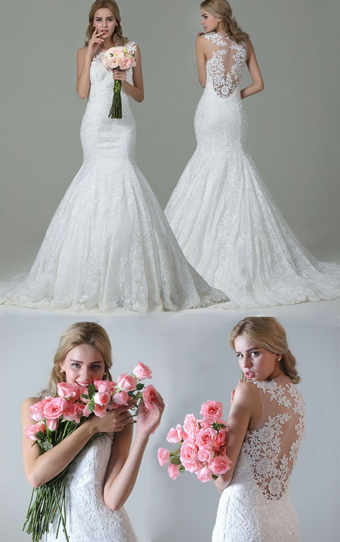 Mermaid Wedding Dress With Gorgeous Back, Free Shipping for Cyber Monday, ends by 12/15/2015, Shop Now!