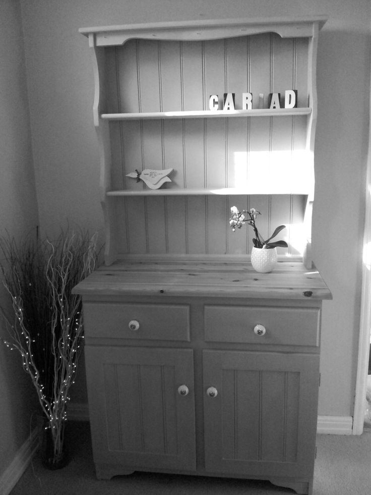 Monochome version of Paris Grey Welsh Dresser, for sale from TheWelshDresser.