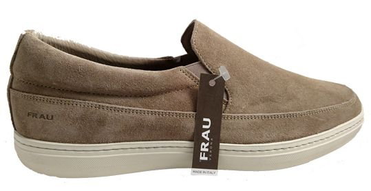 Mens suede loafers, made in Italy by Frau