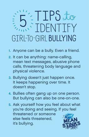 5 tips to identify girl-on-girl bullying  #MeanStinks